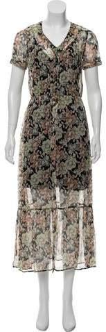 The Kooples Silk Midi Dress