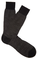 Pantherella Finsbury Herringbone-knit Wool-blend Socks