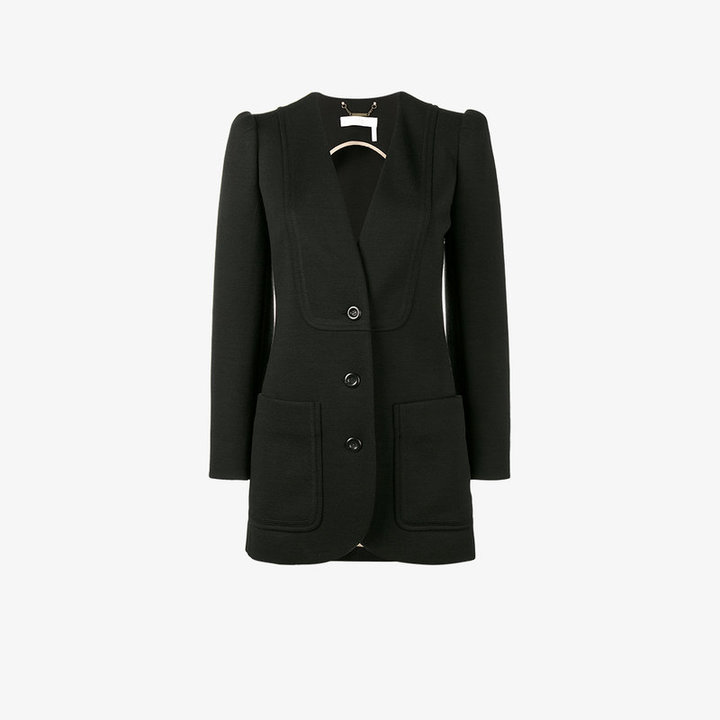 Chloé Single breasted blazer with peaked sleeves