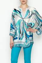 Jade Stitches Tunic Top