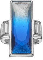 JLO by Jennifer Lopez Faceted Blue Ombre Rectangular Stretch Ring