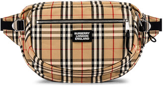 Burberry Vintage Check Bonded Bum Bag in Archive Beige | FWRD