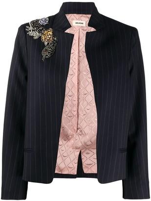 Zadig & Voltaire Vollys pinstripe blazer jacket