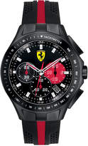Ferrari Scuderia Watch, Men's Chronograph Race Day Black and Red Silicone Strap 44mm 830023