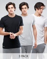 Lacoste Crew T-shirt In 3 Pack Regular Fit