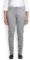 Classic Women's Plus Size Mid Rise Slim Jeans-Pale Surf Gray
