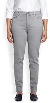 Lands' End Women's Plus Size Mid Rise Slim Jeans-Pale Surf Gray