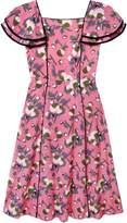 Dagny - Clementine Flutter Sleeve Midi Dress Mauve