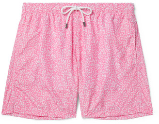 Anderson & Sheppard Floral-Print Shell Swim Shorts