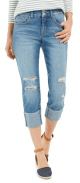 Style&Co. Style & Co Destructed Cuffed Capri Jeans, Created for Macy's