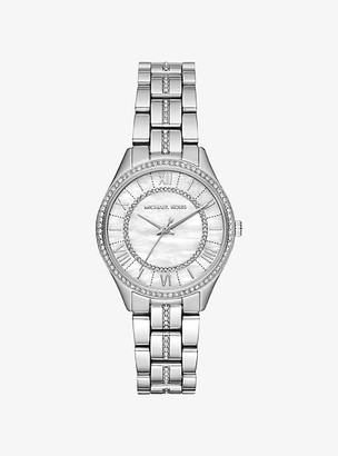 Michael Kors Mini Lauryn Pave Silver-Tone Watch - Silver