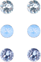 Accessorize Sterling Silver 3x Swarovski Stud Earrings Set