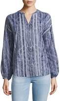 Robert Graham Women's Paisley Cotton Button-Down Shirt