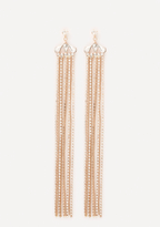 Bebe Glam Fringe Duster Earrings