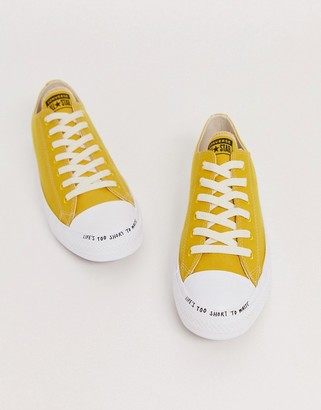 Converse Yellow Chuck Taylor Ox All Star Renew Recycled Sneakers