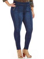 Peter Nygard Nygard Slims Plus Luxe Denim Accent Zipper Jeans