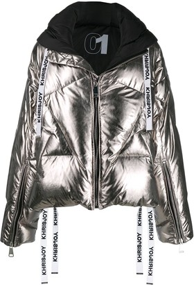KHRISJOY Khris metallic-effect puffer jacket