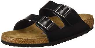 Birkenstock Men's Arizona SFB Open Toe Sandals, Black (Amalfi Black Amalfi Black), (39 EU)