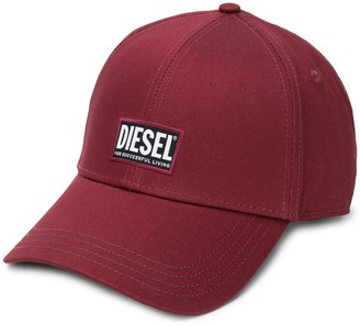 Diesel Logo Patch Baseball Cap