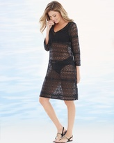 Soma Intimates Crochet Tunic Swim Cover Up Black
