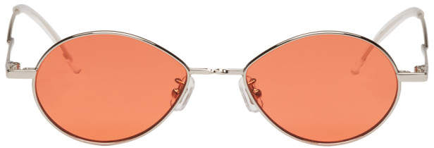 Gentle Monster Silver and Orange Cobalt Sunglasses