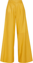 ADAM by Adam Lippes Pleated Leather Wide-leg Pants - US4