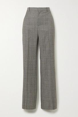 Balenciaga Prince Of Wales Checked Wool Straight-leg Pants - Gray