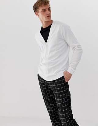 Asos Design DESIGN cotton cardigan white