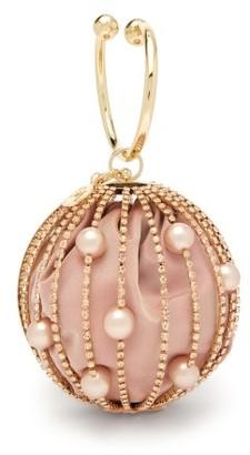 Rosantica Sasha Crystal-embellished Cage-frame Clutch - Pink Multi