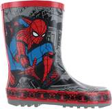 Marvel Boys Spiderman Thick Rubber Grey & Wellies Rain Boots Sizes UK Infant 8