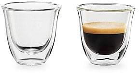 De'Longhi Delonghi Delonghi Set of Two Espresso Glasses
