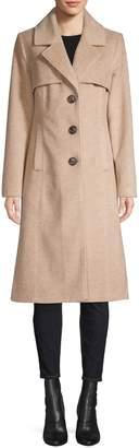 Novelti Wool-Blend Long Coat
