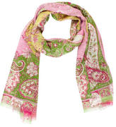 Etro Silk Floral Print Scarf
