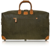 """Bric's Life Olive Green Micro-Suede 22"""" Duffle Bag"""
