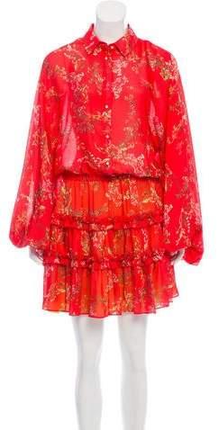 Alexis Printed Knee-Length Dress