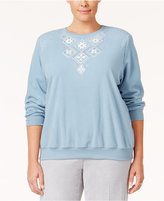 Alfred Dunner Plus Size Northern Lights Collection Embellished Sweater