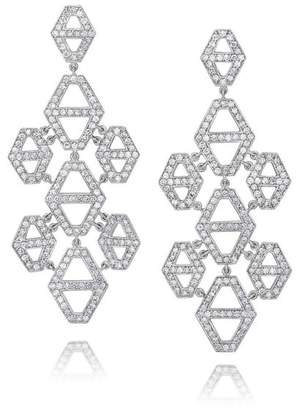 Walters Faith Keynes 18K Diamond Signature Hexagon Chandelier Earrings