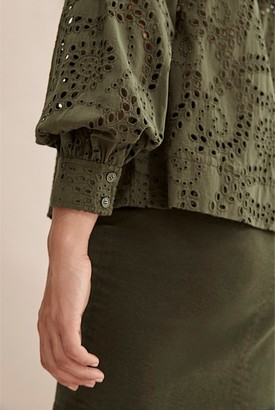 Country Road Tonal Broderie Top