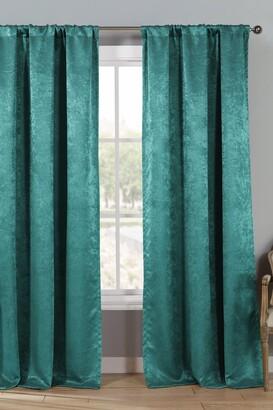 Duck River Textile Steena Solid Room Darkening Curtain Set - Teal