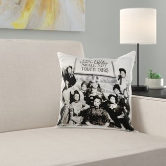 Lips That Touch Liquor Pillow Cover East Urban Home