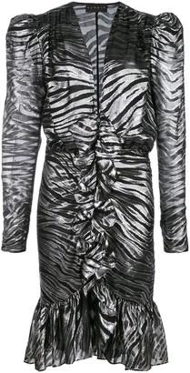 Dundas long sleeved zebra mini dress