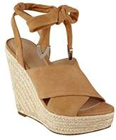 GUESS Women's Oshira Wedge Sandal,9.5 Medium US