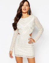 Missguided Premium Cutout Waist Mini Dress