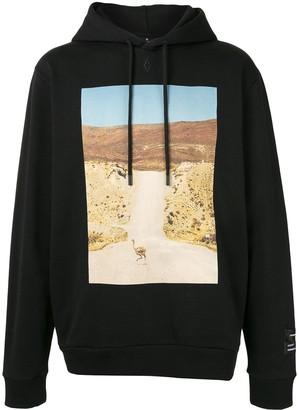 Marcelo Burlon County of Milan Ostrich-print hoodie