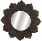 Asstd National Brand Layered Galvanized Sunburst Wall Mirror