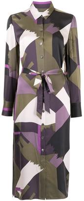 Equipment Rosalee geometric print shirt dress
