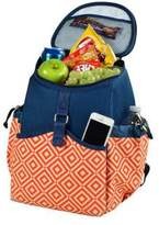 Picnic at Ascot Diamond Collection Cooler Backpack - Orange/Navy Outdoor