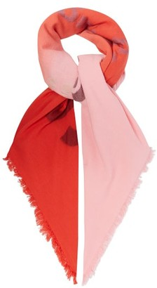 Acne Studios Vinny Logo-jacquard Cotton-blend Scarf - Pink