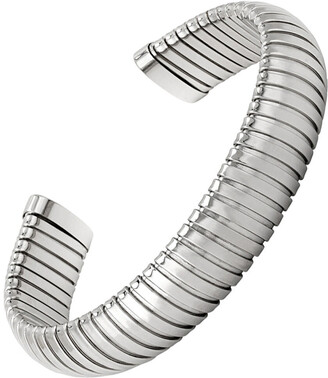 Janis Savitt Medium Rhodium Plated Cobra Cuff Bracelet