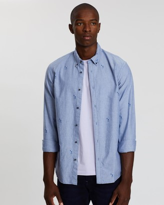Scotch & Soda Blauw Oxford Shirt